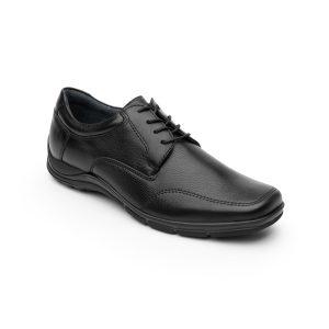 Zapato Casual Para Oficina Flexi Con Piel Graneada Para Hombre – Estilo 97905
